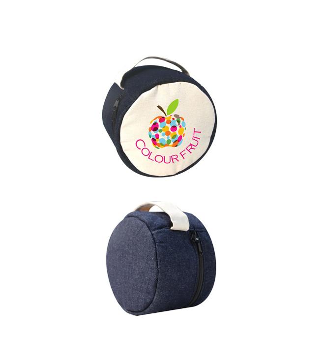 Pyöreä farkkulaukku
