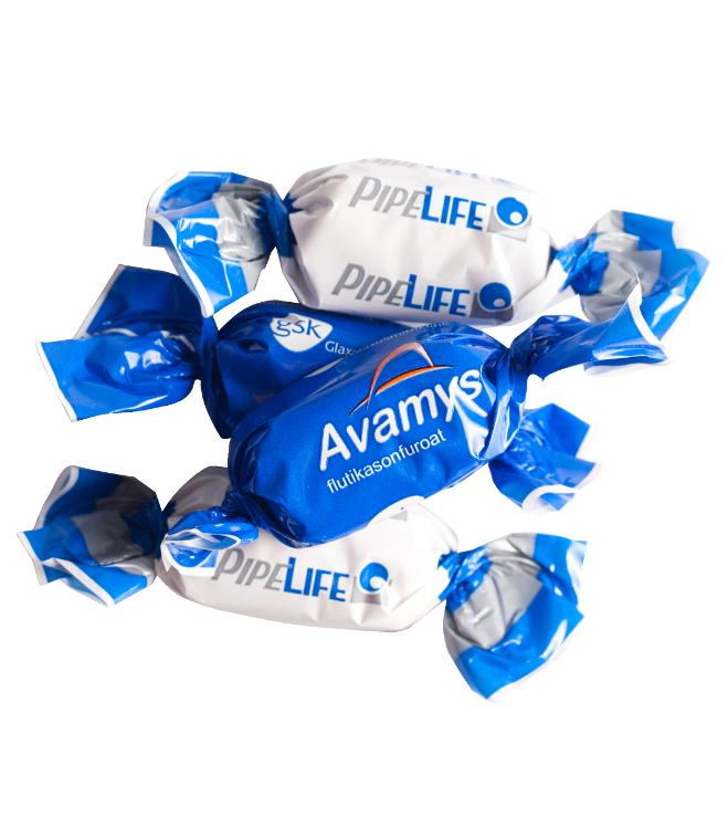 Perinteinen suklaa mainoskääreessä
