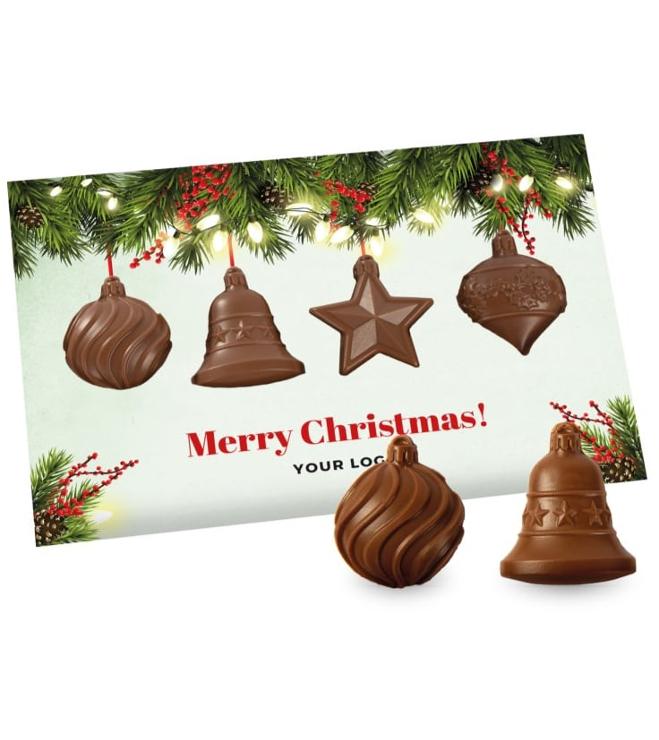 Joulukortti suklaa