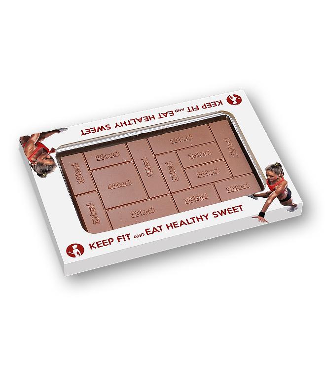 Kaloritaulukko- suklaalevy