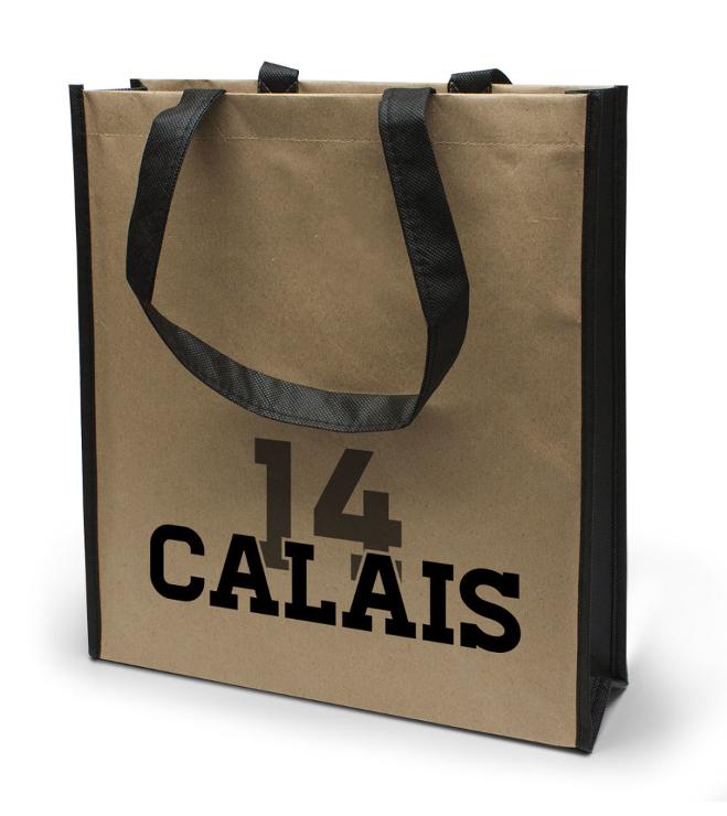 Calais- paperipinnoitettu non woven kassi