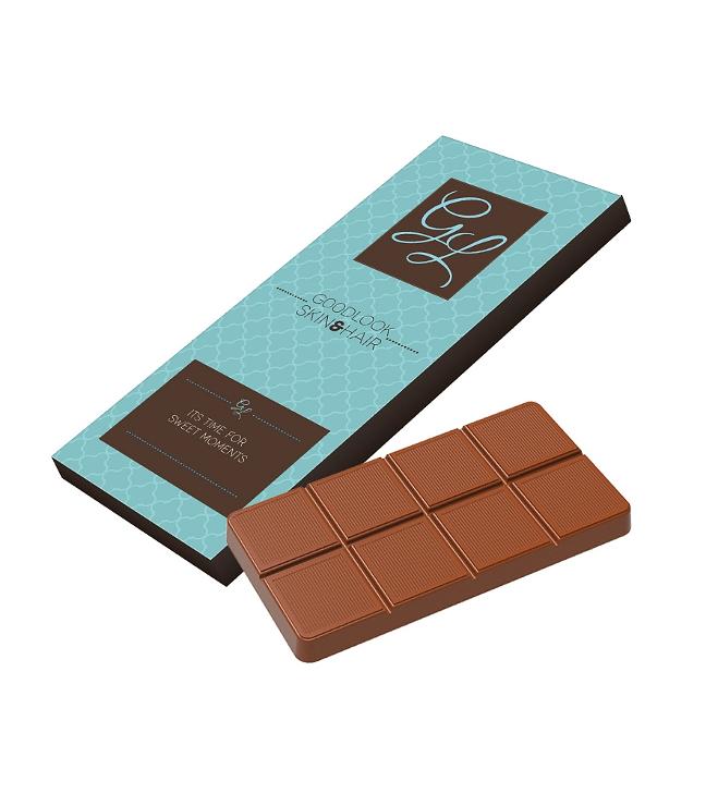 Suklaalevy kirjepakkauksessa 70g