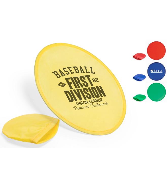 Polyesteri frisbee logolla