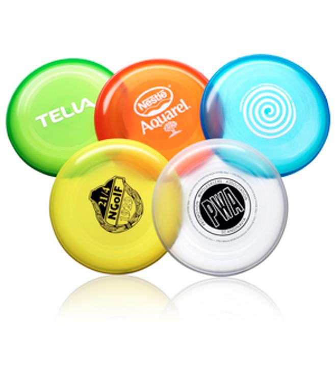Läpikuultava Frisbee logolla