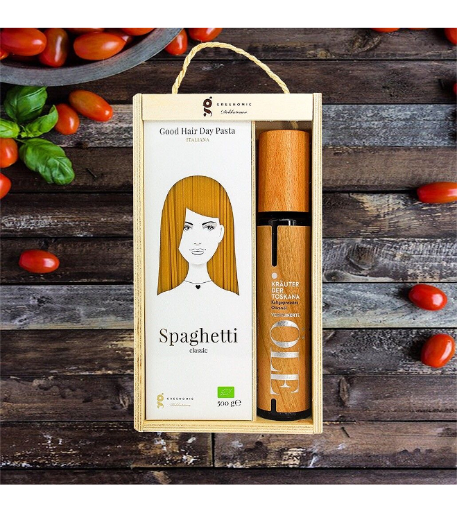 Spagetti/öljy lahjasetti